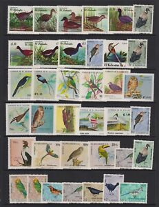 El Salvador - Small Collection of 37 Bird stamps - MNH