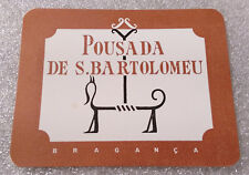 Vintage Rare ✱S. BARTOLOMEU / PORTUGAL ✱ Hotel Luggage label Kofferaufkleber 50`