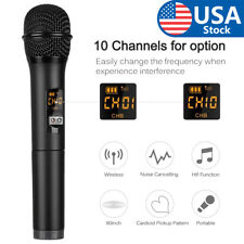 UHF Handheld Wireless Microphone with Mini Bluetooth Receiver for Karaoke Speech