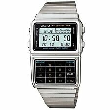 Casio Digital Calculator  Data Bank Light Timer Stop Watch, Stainless Steel