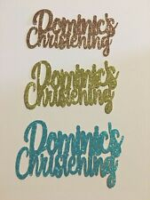 Custom Cupcake Topper Christening Any Name/Colour personalised Pack of 6