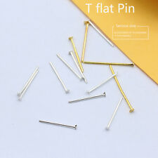 16/18/20/26/30mm bronze/gold/silver plated Metal flat head pin headpins findings