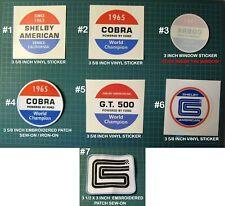 CARROLL SHELBY AMERICAN PATCH DECAL STICKER RACING-GT40 - COBRA-FORD VS FERRARI