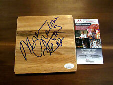 MOSES MALONE # 2 76'ERS 3 X MVP HOF SIGNED AUTO BASKETBALL FLOORBOARD JSA GEM