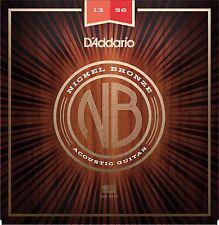 D'ADDARIO NB1356 NICKEL BRONZE ACOUSTIC GUITAR STRINGS - MEDUM GAUGE 13-56