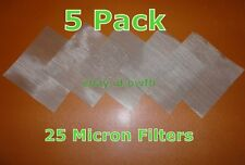 "(5 Pack) 4""x4""- 25 Micron Mesh Stainless Steel- Rosin Tech Screen"