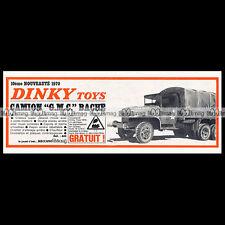 DINKY TOYS 1970 GMC ARMY TRUCK CAMION MILITAIRE (809) Pub / Publicité / Ad #E122