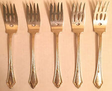G M CO SILVERPLATE FLATWARE E P N S PAT 1914 ******** 5 SALAD  FORKS ******* 6""