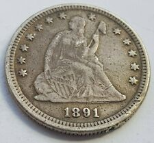 More details for usa 1891 mint barber seated liberty silver dollar coin
