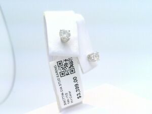 $3400 WOW 3/4CTTW CT REAL Diamond Stud Earrings 14k SOLID WHITE Gold NO RESERVE