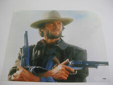 CLINT EASTWOOD JOSEY WALES SIGNED 41CM X 51CM PHOTOGRAPH PSA DNA #Z02651 HUGE