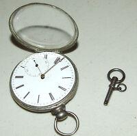 Antique 1800's M.J. Tobias London Victorian Silver English Gents Pocket Watch