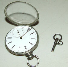 Antique 1800's M.J. Tobias London Victorian Silver English Gents Pocket Watch