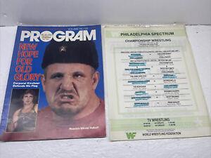 WWF WWE Program Volume 133 Nikolai Volkoff Steele Albano Hogan Andre W Card