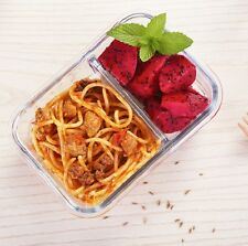 iCook 2 Compartment Glass Lunchbox 1020 ml - Carry Bag Included