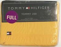 Vintage Tommy Hilfiger Yellow Full Flat Sheet 100% Ringspun Combed Cotton NOS