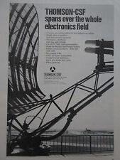 9/1973 PUB THOMSON-CSF AVIATION EQUIPMENT RADAR RADIO VHF UHF ILS ORIGINAL AD