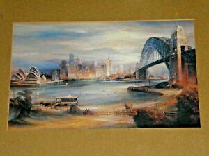 Sydney Harbour Bridge Opera House City Skyline Ferry Framed Print No Glass