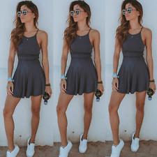 NEW Women Summer Casual Sleeveless Evening Party Beach Dress Short Mini Dress 01