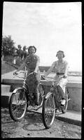 #Z4 x Amateur Vintage Negative-Photo- Women on Bicycle 1940s