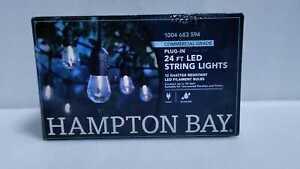 Hampton Bay 12-Light Indoor/Outdoor 24 ft. String Light with S14 Single Filament