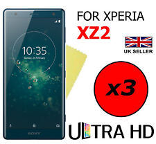 3x Hq Ultra Clear Hd Screen Protector Cover Film Guards For Sony Xperia Xz2