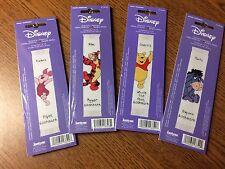 Four NIP Winnie the Pooh~Tigger~Piglet~Eeyore Disney Cross Stitch Bookmark Kits