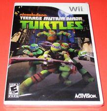 Teenage Mutant Ninja Turtles Nintendo Wii *New! *Sealed! *Free Shipping!