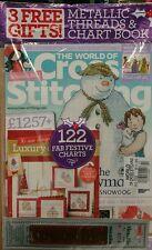 World of Cross Stitching UK 3 Free Gifts Festive Charts #222 FREE SHIPPING