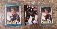 (3) Cliff Ronning 1989-90 Topps O-pee-chee Rookie Card Lot Blues Canucks RC