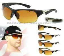 Xloop HD SUNGLASSES SPORTS WRAP HIGH DEFINITION Driving Golf Motorcycle Mens