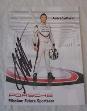 Le Mans 2017 - Du Mans WEC LMP1 Porsche 919 Hybrid #1 Andre lotterer Signed Card