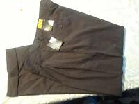 NEW Rafael Super 100 Brown Pinstripe Cuffed Pants Men 38X30 NWT Closet366