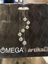 Artika 7th Avenue 44-Watt Satin Nickel Integrated LED Pendant Light Fixture OPEN