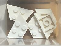 LEGO Parts - White Wedge Plate 2 x 4 - No 51739 - QTY 5