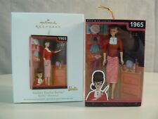 Hallmark Ornament 2012 STUDENT TEACHER BARBIE Class Red Pumps Red & White Dress