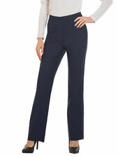 Red Hanger Womens Bootcut Stretch Dress Pants - Comfy Pull on Style Navy Large