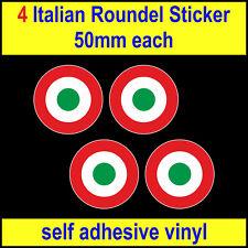 50mm x4 Italian Air Force Roundel Sticker MOD Who Vespa Lambretta Scooter decal