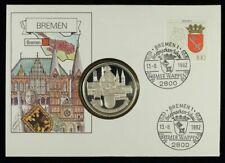 Numisbrief | Hansestadt Bremen | Medaille PP versilbert Ø40mm | NB1535
