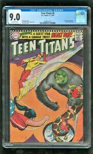 CGC 9.0 TEEN TITANS #6 D.C. COMICS 1966 BEAST BOY APPEARANCE DOOM PATROL CAMEO