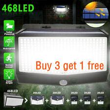 468 LED Solar Power Lights PIR Motion Sensor Outdoor Lamp Wall Waterproof Garden