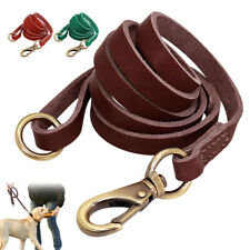Genuine Leather Pet Dog Walking Leash Strong for Large Breeds Pit Bull Labrador