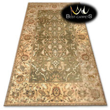 """TRADITIONAL AGNELLA WOOL RUGS """"AGNUS"""" flowers green modern designs best quality"""