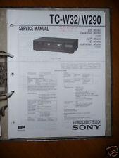 Service Manual Sony Tc-W32/W290 Cassette Deck, Original