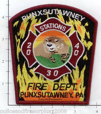 Pennsylvania - Punxsutawney PA Fire Dept Fire Patch Station 20 30 40  Ground Hog