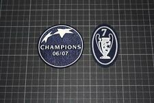 UEFA CHAMPIONS LEAGUE WINNER and 5 TIMES WINNER BADGES / PATCHES 2006-2007