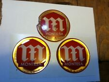 Early Montesa 48mm Tank Badges Cota, Impala, LaCross 25a, 25c, 49, 74, 123, 172