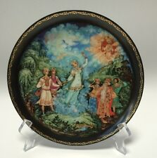 Porcelain Legend Of The Snowmaiden Love's Finale Plate #7 Russian Folktale COA