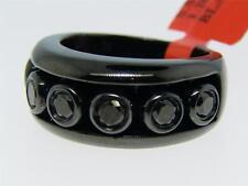 Mens/Ladies Black Diamonds Floating Band Ring 1.50 Ct