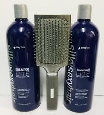 Silky Sexy Hair Shampoo & Conditioner LITE For Fine/Normal & Rusk Brush -1L each